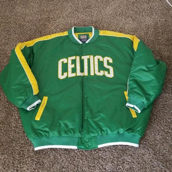 Hardwood Classics Men/'s Boston Celtics Jacket NWT